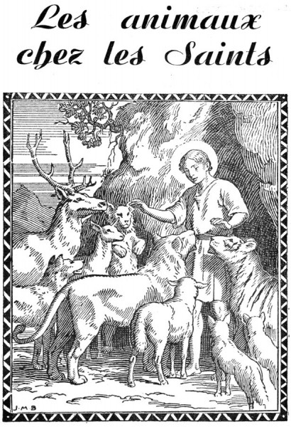 Histoires des animaux chez les saints, à raconter aux enfants - coloriage