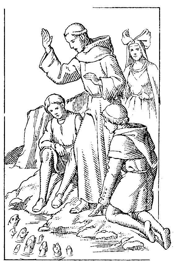 Saint Antoine de Padoue parle aux poissons à Rimini
