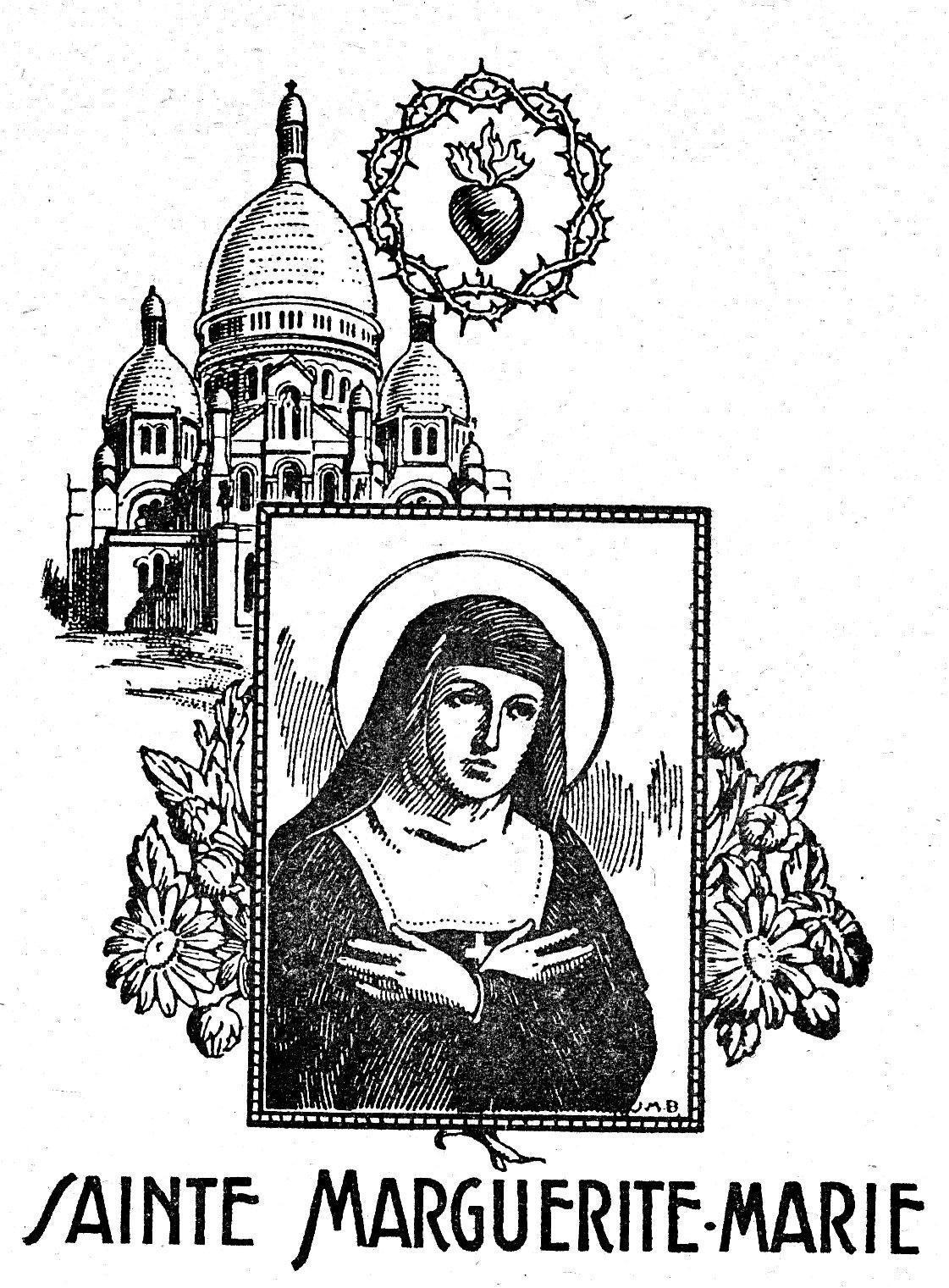 Coloriage Sainte Marguerite-Marie Alacoque - Montmartre