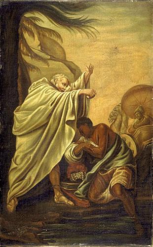 Saint Philippe baptisant l'eunuque de la reine Candace
