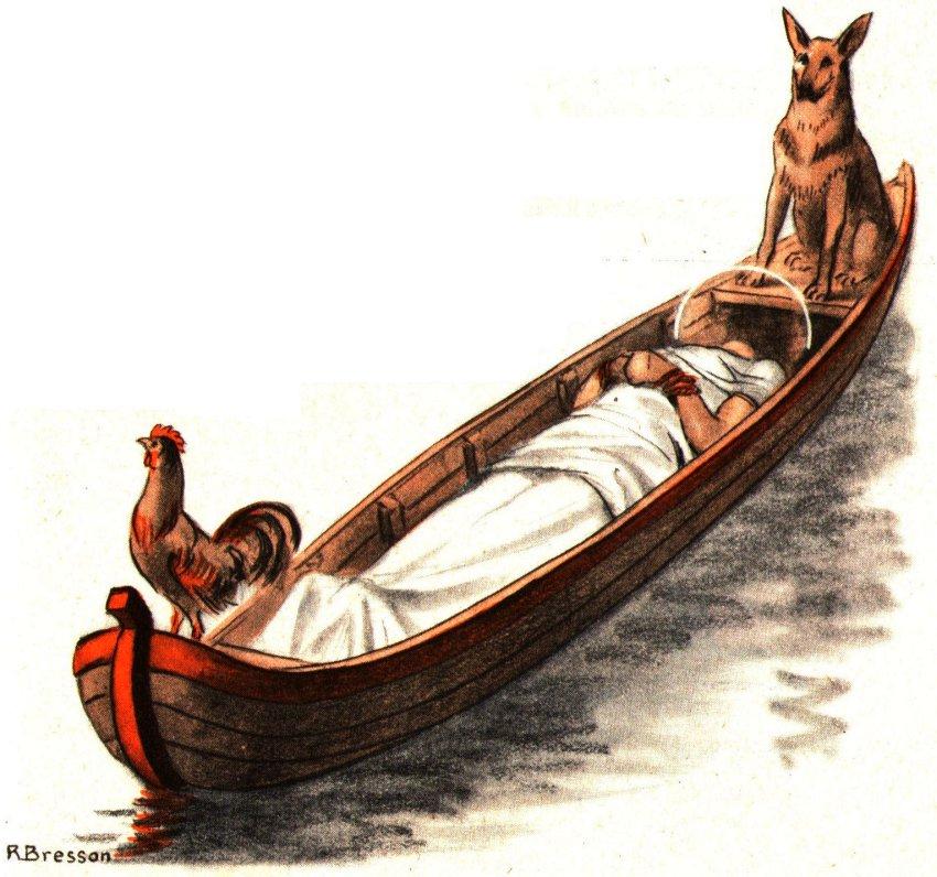 Récit et Légende de Saint Tropez - Arrivé du corps de St Tropez en bateau