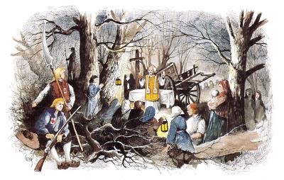 Messe de minuit à Noel durant la Révolution