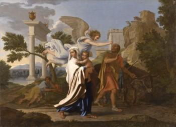 L'Immaculé Conception récit pour les enfants - Nicolas Poussin - La fuite en Egypte