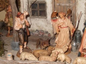 Bergers et les moutons de la crêches - Vivres pour les assiégés de La Rochelle