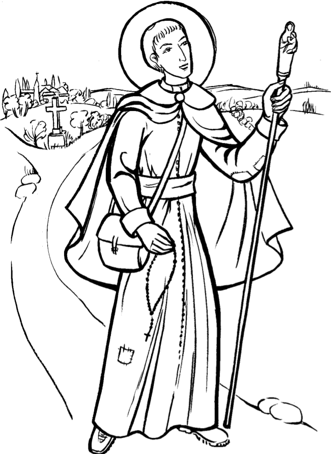 Coloriage saint louis marie grignon de monfort et - Coloriage marie ...