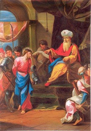 Première station du chemin de Croix - Jésus est condamné à mort