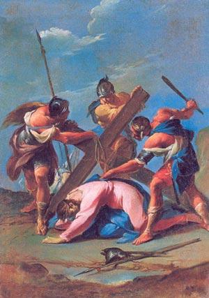 14 stations du Chemin de Croix pour les petits - 7e Station : Jésus tombe une seconde fois