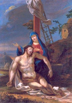 Chemin de Croix pour les petits de la catéchèse - Jésus est descendu de la Croix et remis à sa Mère