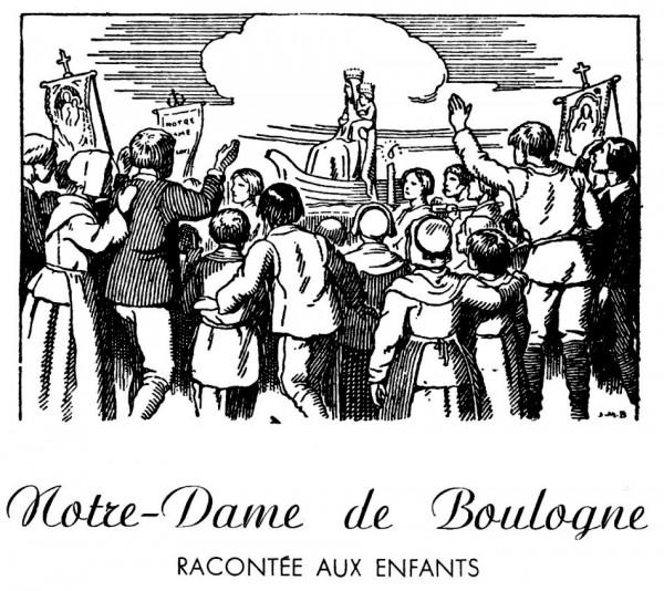 Coloriage de Notre-Dame de Boulogne pour les mômes