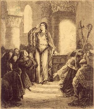 Saint Erhard vient baptiser sainte Odile - récit pour les mômes