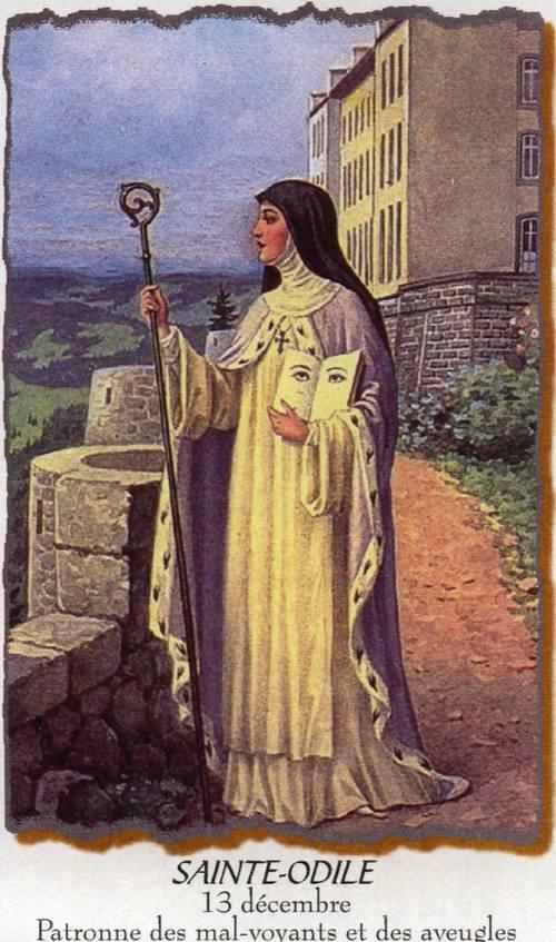 Saint Odile patronne des aveugles et des mals voyants