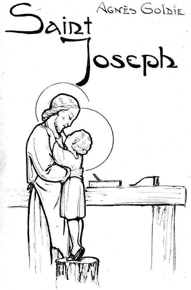 Saint Joseph Et Le Petit J U00e9sus  U00e0 L U0026 39 Atelier