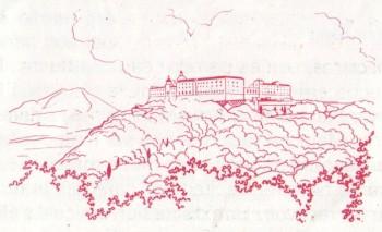 Saint Benoit fonde l'abbaye de Mont-Cassin