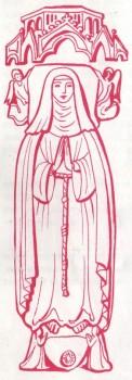 Coloriage - Sainte Scholastique la sœur de Saint Benoît