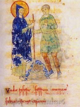 Récit du Miracle : Saint Benoît remet le fer du falcastrum