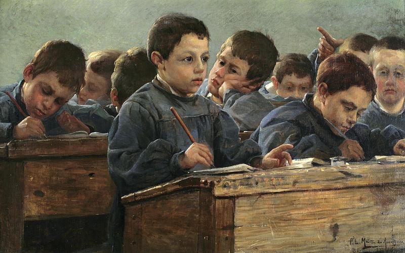 P. L. Martin des Amoignes - En Classe, 1886
