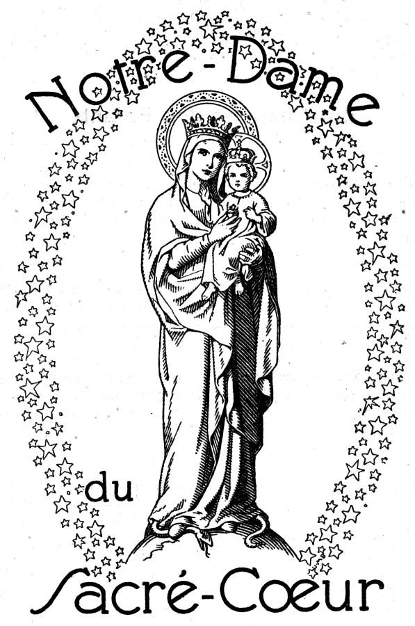 Coloriage pour le KT : Notre-Dame du Sacré Coeur - Issoudun