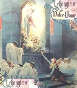 Le jongleur au pied de Notre Dame