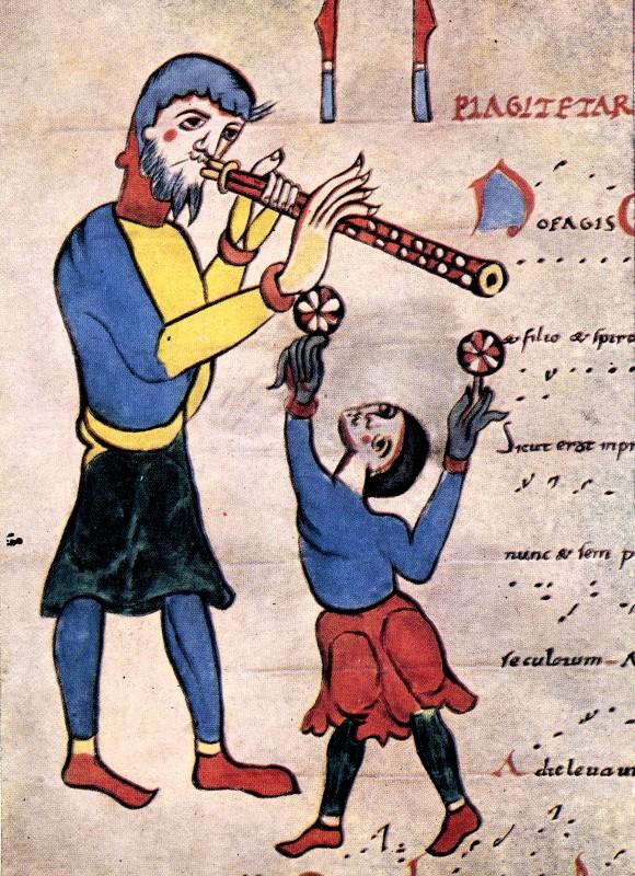 Troubadour et jongleur