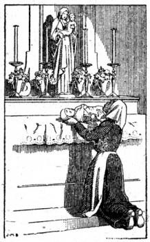 Le petit Jean-Jules Chevalier offert a la Vierge par sa mère
