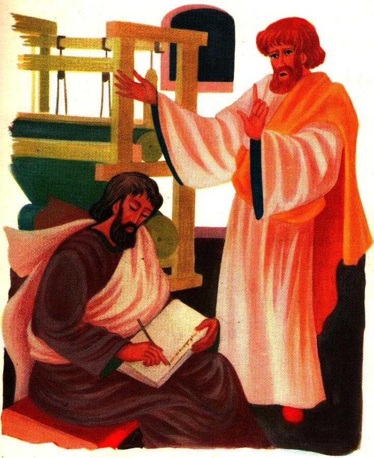 Saint Paul dicte ses épitres - histoire de l'Evangile pour les enfants
