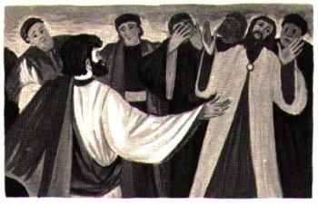 Saint Paul quitte et bénit les chrétiens de Césarée