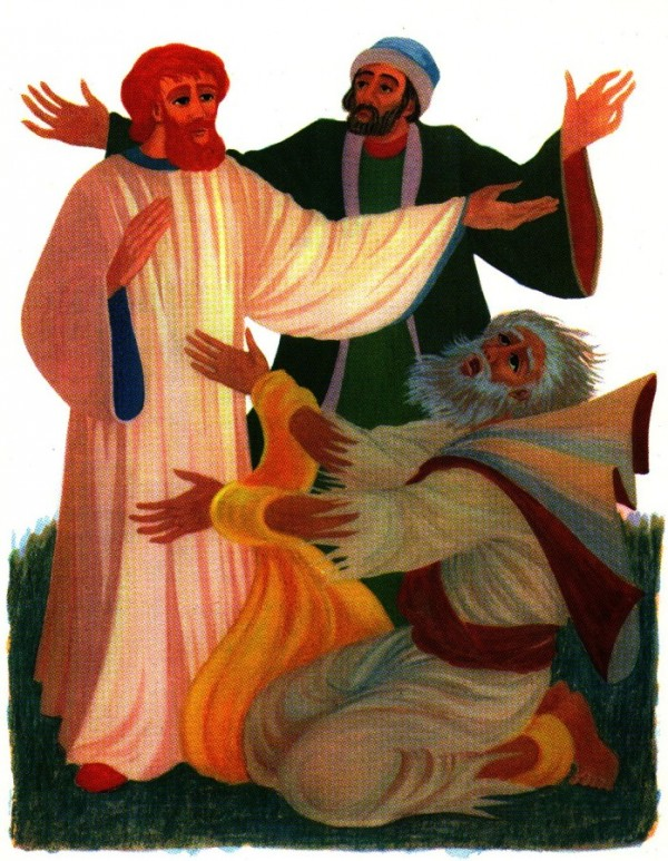 Agabus prophétise les persécutions de Saint Paul.
