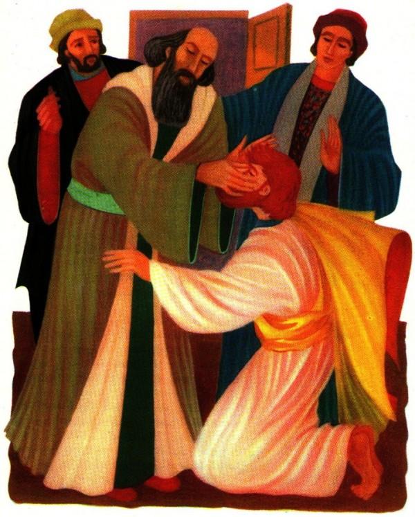 Saint Paul guéri pas Ananias - Vie de Saint Paul pour le catéchisme