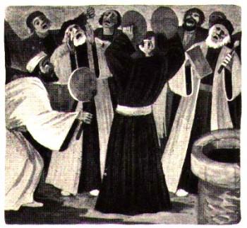 Les Juifs font du bruit pour empêcher la prédication de saint Paul