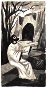 Saint Paul priant dans le désert -