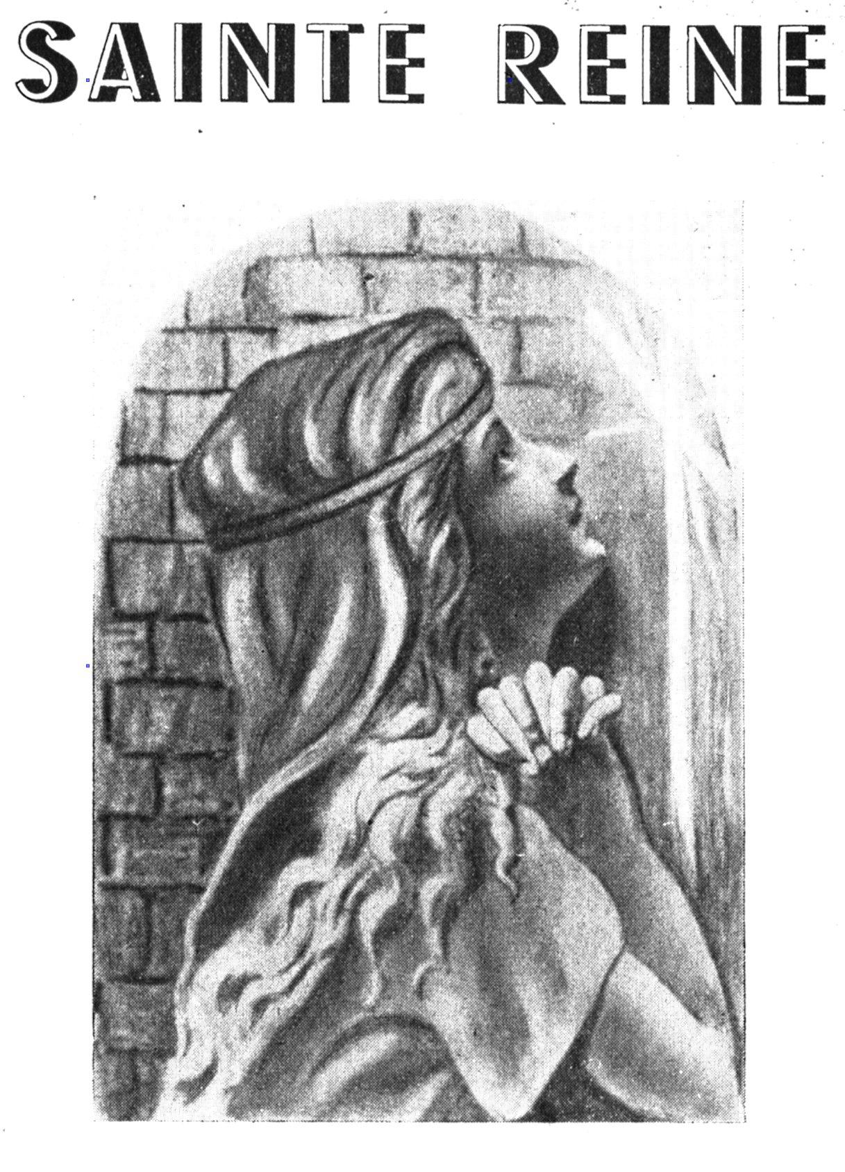 Sainte Reine en extase dans son cachot - histoire d'une jeune martyre