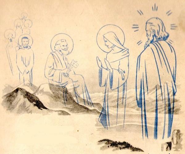 Légende de Savoie racontée aux petits : Saint Pierre, La Sainte Vierge et Jésus