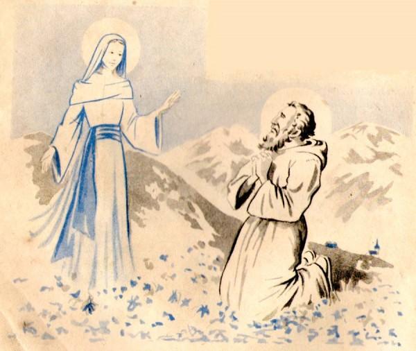 La Sainte Vierge fleurie la montagne Saint-Eynard