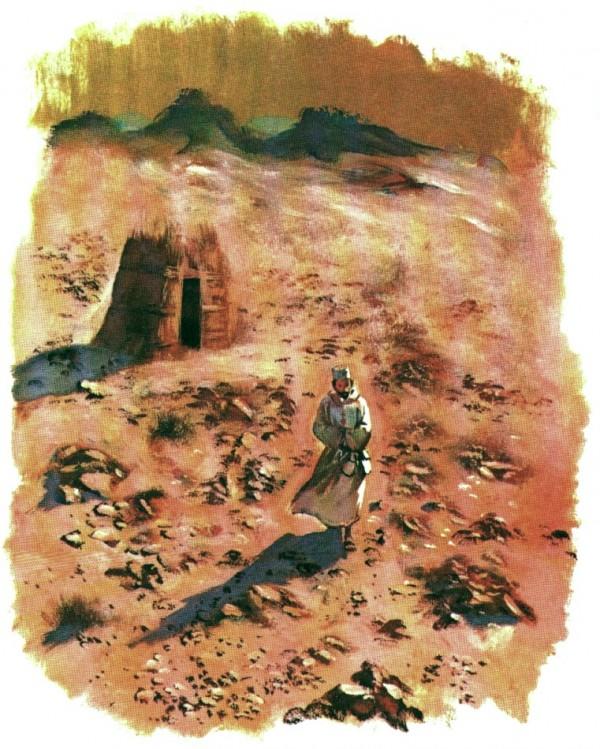 L'ermitage de Tamanrasset dans le désert du Hoggar