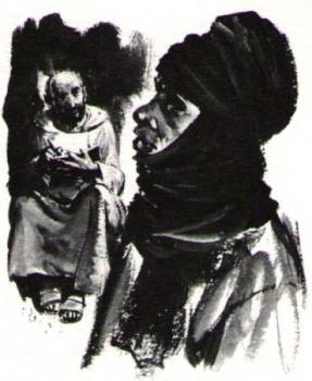 Saint Charles de Foucauld échange avec les fiers Touaregs
