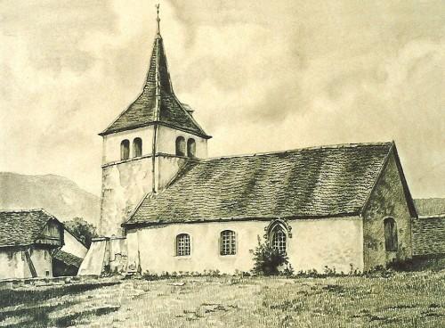 Gravure église à colorier