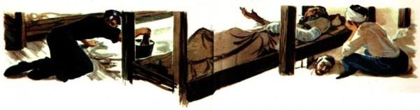 Père Jacques à l'infirmerie du camp de Sarrebruck