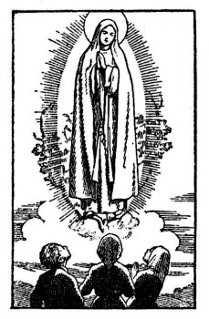 Notre-Dame de Fatima apparait aux trois bergers