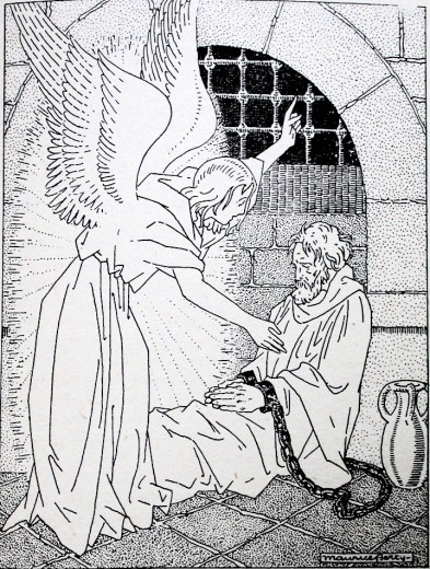Coloriage - Saint Pierre délivré par l'ange
