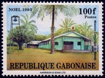L'église d'une mission catholique au Gabon