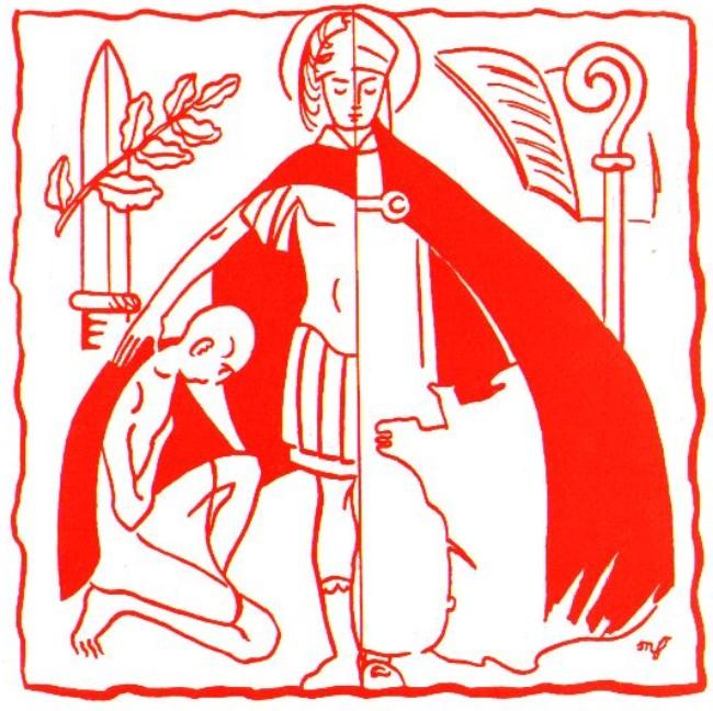 Pour les jeunes du caté - Saint Martin partage son manteau