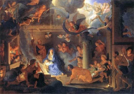 Charles Le Brun - Nativité avec les bergers