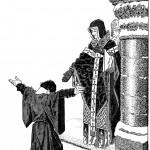 Grégoire VII et l'empereur d'Allemagne Henri IV, Canossa.