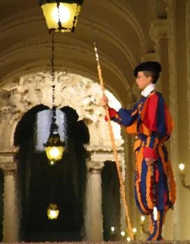 Le vatican et les gardes suisses pour les enfants