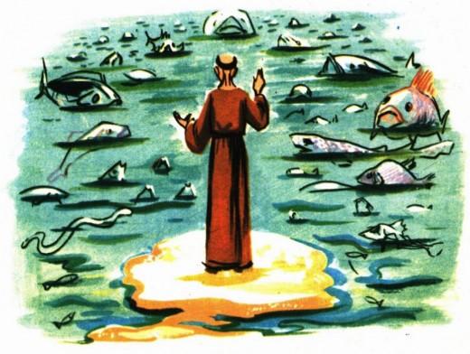 Saint Antoine bénie les poissons - Récit pour les jeunes