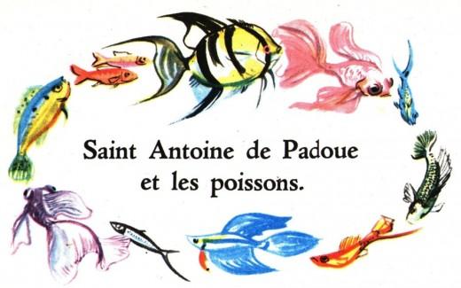 La ronde des poissons autour de Saint Antoine de Padoue