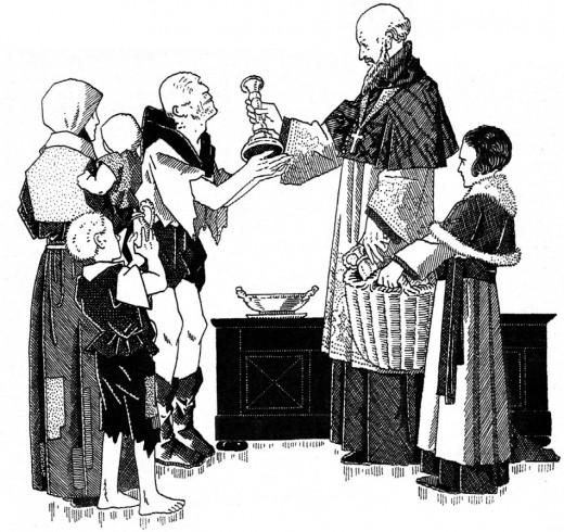Coloriage : Saint François de Sale pour les enfants et les louveteaux