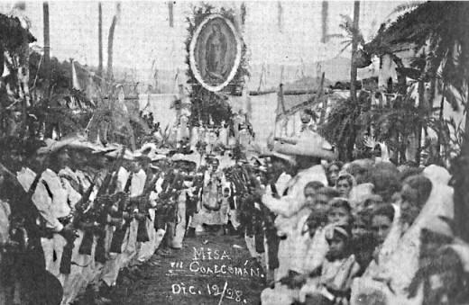 1925-Messe des Cristeros sous le regard de ND de Guadalupe