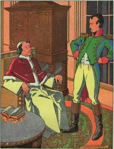 Récit du concordat pour les scouts, Guides, jeannettes et louveteaux - Napoléon et Pie VII