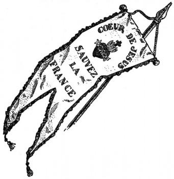 Histoire de l'église pour les jeunes : Bannière des zouaves